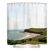 The End Of Long Island South 1 Shower Curtain