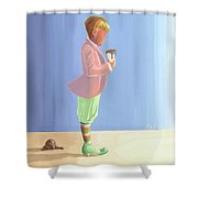 The End Of The World Shower Curtain