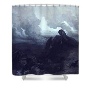 The Enigma 1871 Shower Curtain