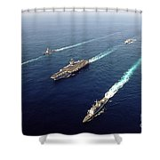 The Enterprise Carrier Strike Group Shower Curtain