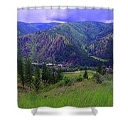 The Entiat Valley  Shower Curtain