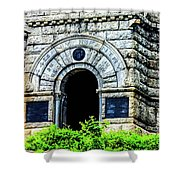 The Entrance To The Castle On Little Round Top Shower Curtain