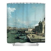 The Entrance To The Grand Canal And The Church Of Santa Maria Della Salute Shower Curtain