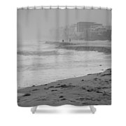 The Eroded Coast Shower Curtain