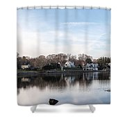 The Essex Connecticut Cove Shower Curtain