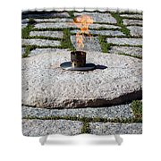 The Eternal Flame At President John F. Kennedy's Grave Shower Curtain