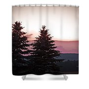 The Evening Before Shower Curtain