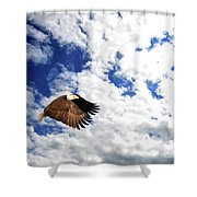 The Evening Hunt Shower Curtain