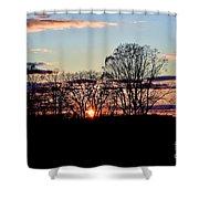 The Evening Sky Shower Curtain