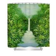 The Everlasting Rain Forest Shower Curtain by Hannibal Mane