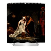 The Execution Of Lady Jane Grey In The Tower Of London In The Year 1554 Shower Curtain