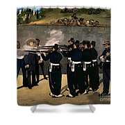 The Execution Of The Emperor Maximilian Shower Curtain
