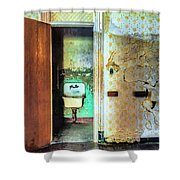 The Executive Washroom Shower Curtain