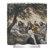 The Exhortation To The Apostles Shower Curtain