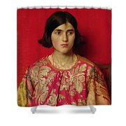 The Exile - Heavy Is The Price I Paid For Love Shower Curtain by Thomas Cooper Gotch