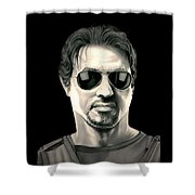 The Expendables Barney Ross Shower Curtain