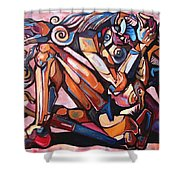 The Expressive Muse Shower Curtain