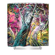 The Expulsion From Paradise Shower Curtain