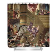 The Expulsion Of Heliodorus Shower Curtain