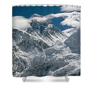 The Extreme Terrain Of Mount Everest Shower Curtain