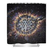 The Eye Of God - Helix Nebula Shower Curtain