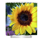 The Eye Of The Flower Shower Curtain