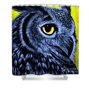 The Eye Of The Owl -the  Goobe Series Shower Curtain