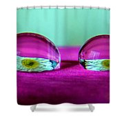 The Eye Of The Petal II Shower Curtain