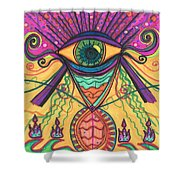 The Eye Opens... To A New Day Shower Curtain by Daina White