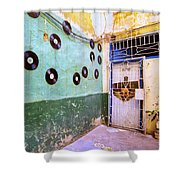The Eye Tunes Store Shower Curtain
