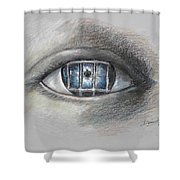 The Eyes Gate Shower Curtain