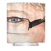 The Eyes Have It - Donna Shower Curtain