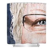 The Eyes Have It - Vickie Shower Curtain