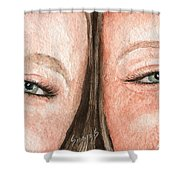 The Eyes Have It- K And K Shower Curtain