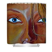 The Eyes Of The Muse Shower Curtain