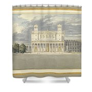 The Fa?ade And Suroundings Of A Cathedral For Berlin Shower Curtain