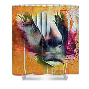 The Face At The Wall Shower Curtain