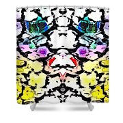 The Face Emerging Shower Curtain