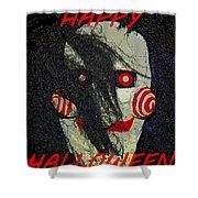 The Face Halloween Card Shower Curtain