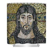 The Face Of Christ Shower Curtain by Byzantine School