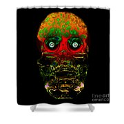 The Face Of Man Shower Curtain by David Lee Thompson