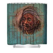The Face Of Wisdom Shower Curtain