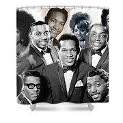 The Faces Of Motown Shower Curtain