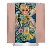 The Fairies Of Wine Series - Chardonnay Shower Curtain