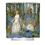 The Fairy Wood Shower Curtain by Henry Meynell Rheam