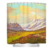 The Fall Colors Of Alaska Route 8 No.3 Shower Curtain