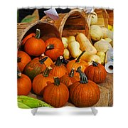 The Fall Harvest Is In Kendall Square Farmers Market Shower Curtain