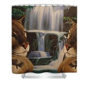 The Fall Of A Reflection  Shower Curtain