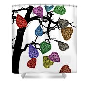 The Fall Of Hearts Shower Curtain