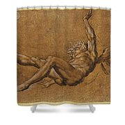 The Fall Of Icarus Shower Curtain